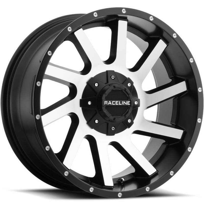 Raceline 932M Twist Machine Black Wheels