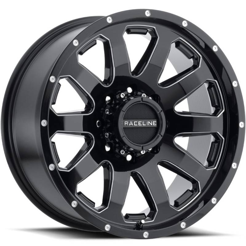 Raceline 938M Enforcer Gloss Black Milled