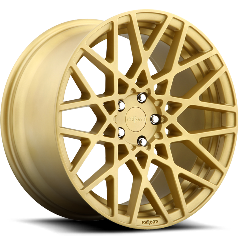 Rotiform BLQ Matte Gold Wheels