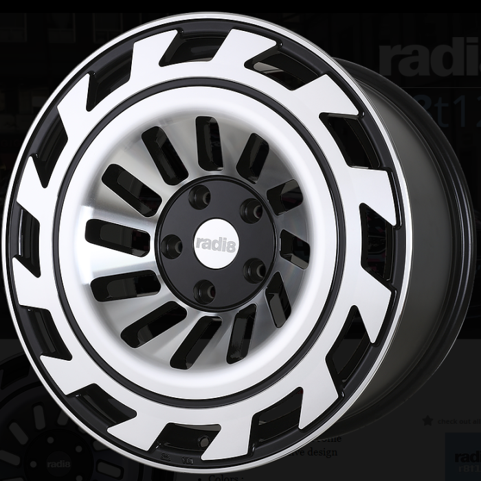 Radi8 R8T12 Black Machined