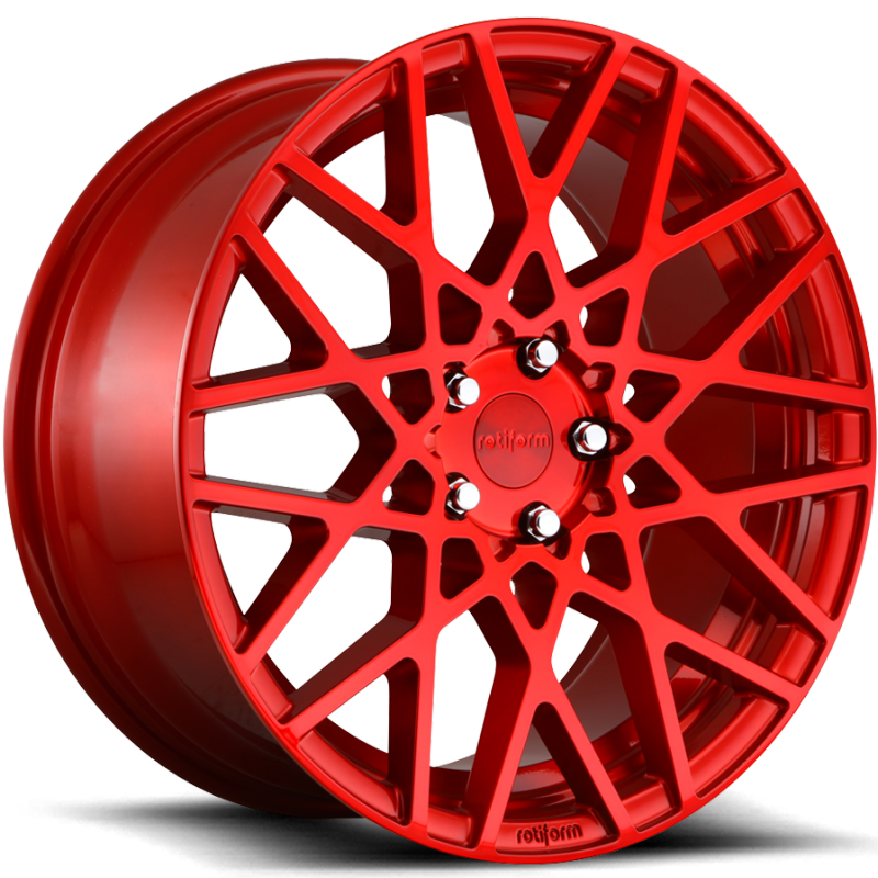 Rotiform BLQ Candy Red Wheels