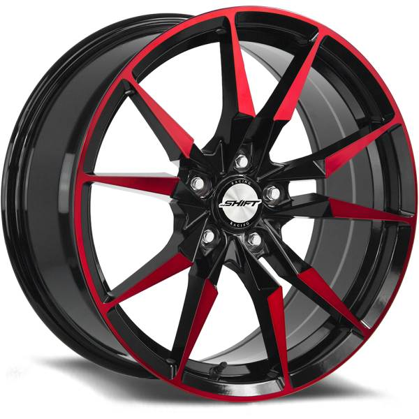 Shift Wheels Blade Gloss Black with Red