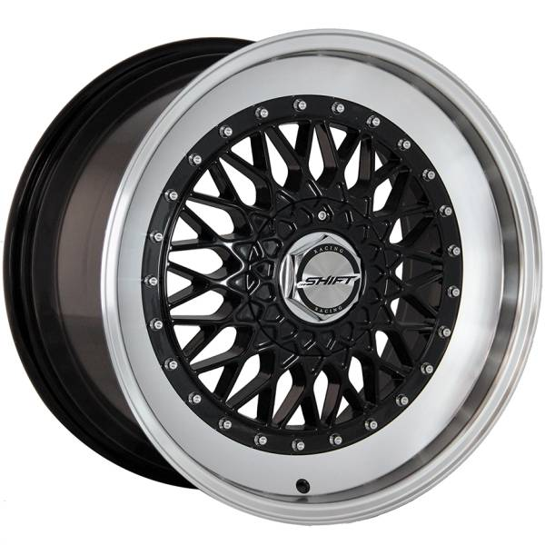 Shift Wheels Clutch Gloss Black with Machined Lip