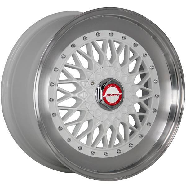 Shift Wheels Clutch Gloss White with Machined Lip