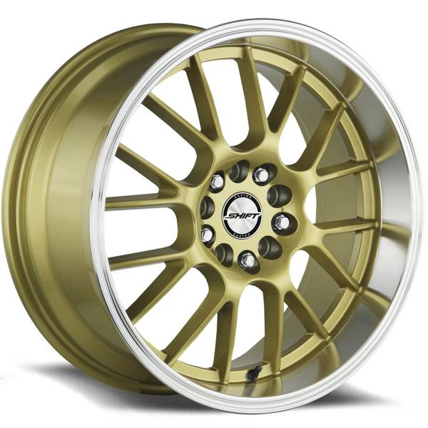Shift Wheels Crank Gloss Gold with Machined Lip