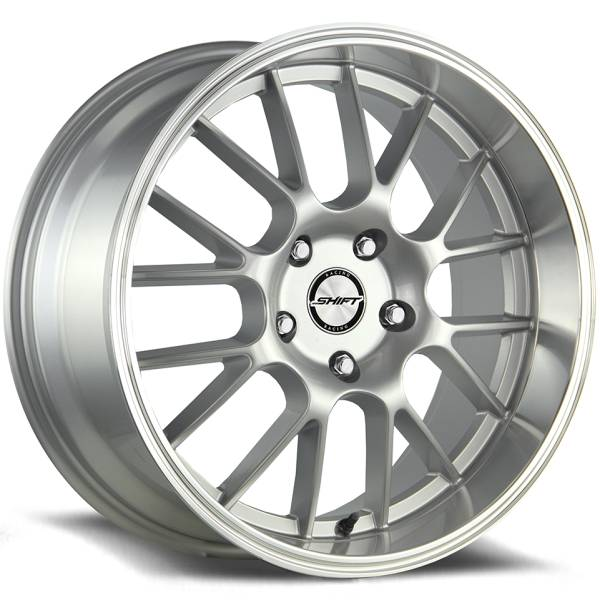 Shift Wheels Crank Gloss Silver with Machined Lip