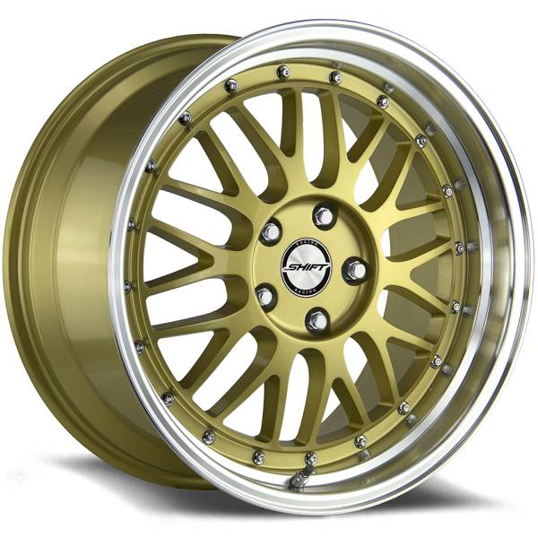 Shift Wheels Flywheel Gloss Gold with Machined Lip