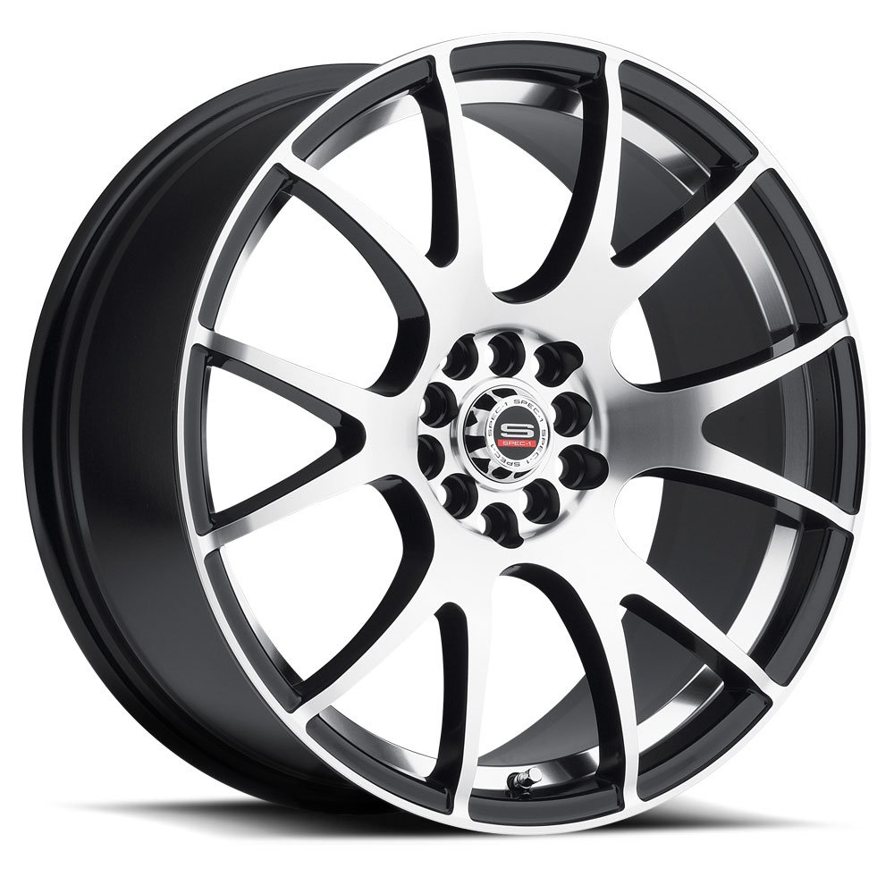 Spec-1 Racing SP-02 Machined Black Wheels