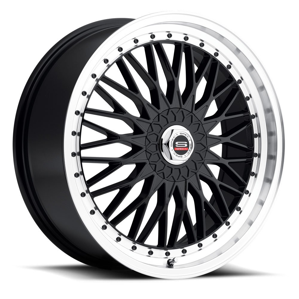 Spec-1 Racing SP-03 Gloss Black Machined Wheels