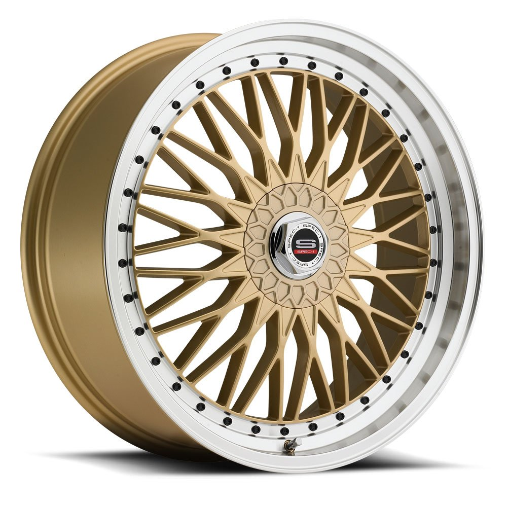 Spec-1 Racing SP-03 Gold Wheels