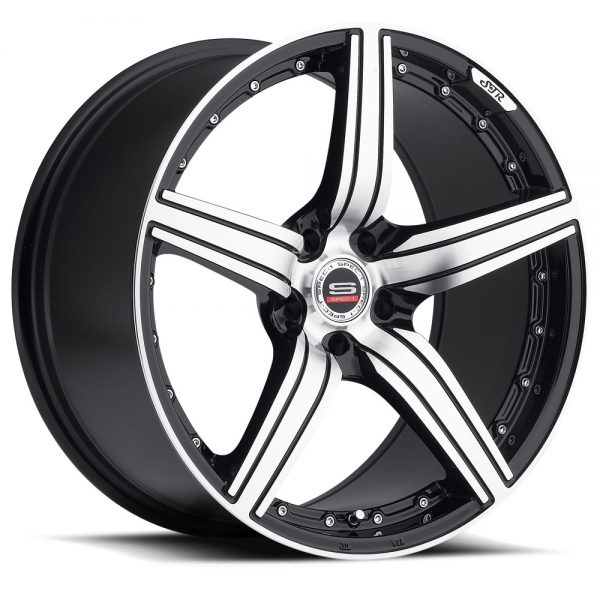 Spec-1 Racing SP-04 Black Machined Wheels