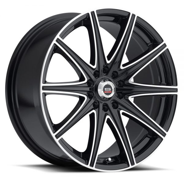 Spec-1 Racing SP-14 Black Machined Wheels