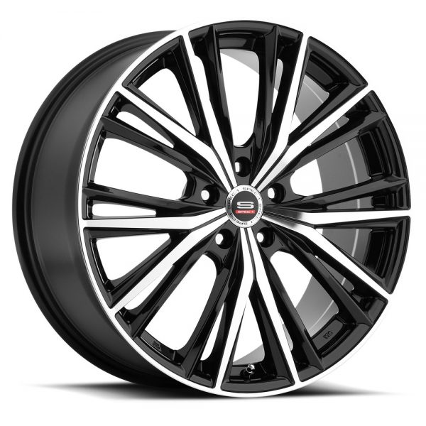 Spec-1 Racing SP-34 Black Machined Wheels