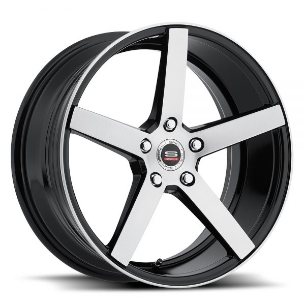 Spec-1 Racing SP-36 Machine Black Wheels