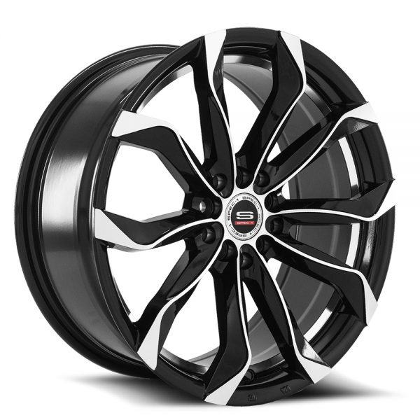 Spec-1 Racing SP-44 Black Machined Wheels