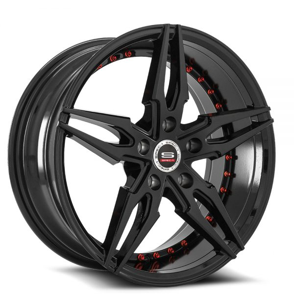 Spec-1 Racing SP-46 Black Wheels