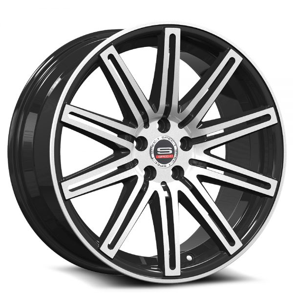 Spec-1 Racing SP-48 Machine Black Wheels