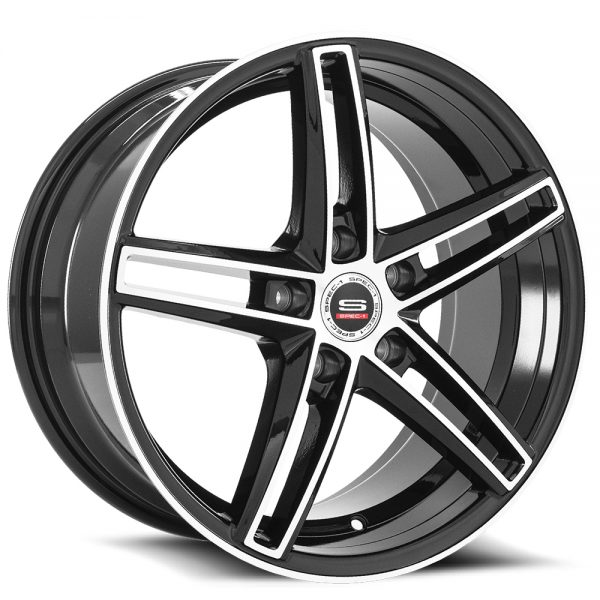 Spec-1 Racing SP-49 Black Machined Wheels