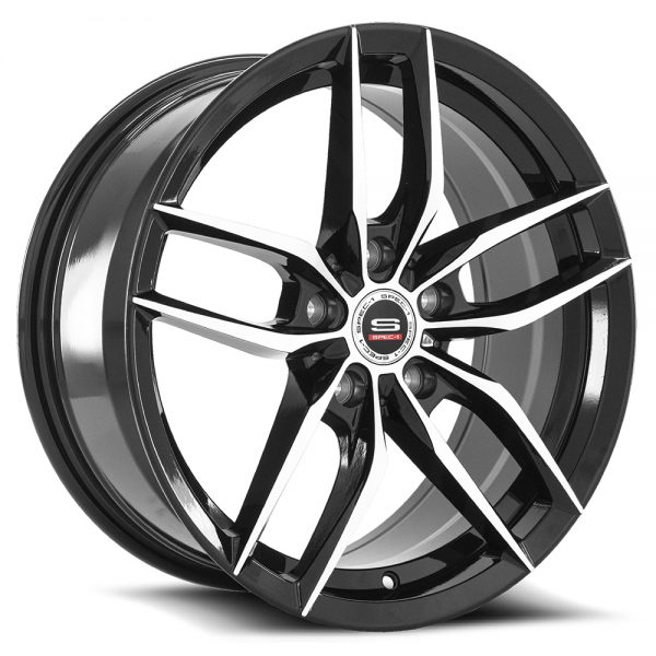 Spec-1 Racing SP-50 Black Machined Wheels