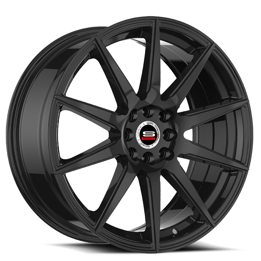 Spec-1 Racing SP-51 Gloss Black Wheels