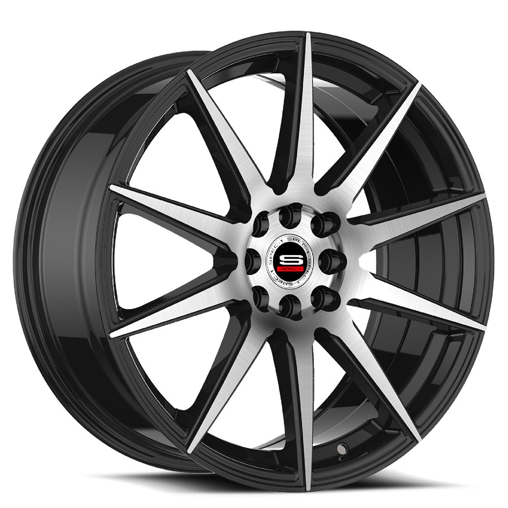 Spec-1 Racing SP-51 Machine Black Wheels