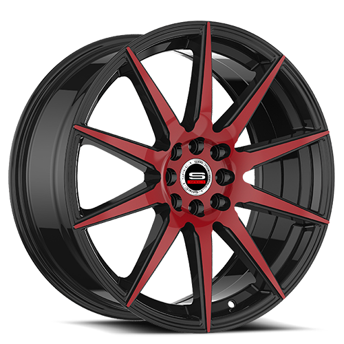 Spec-1 Racing SP-51 Red and Black Wheels