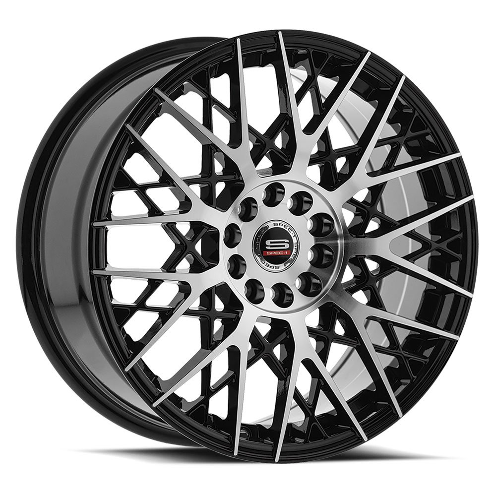 Spec-1 Racing SP-53 Machine Black Wheels