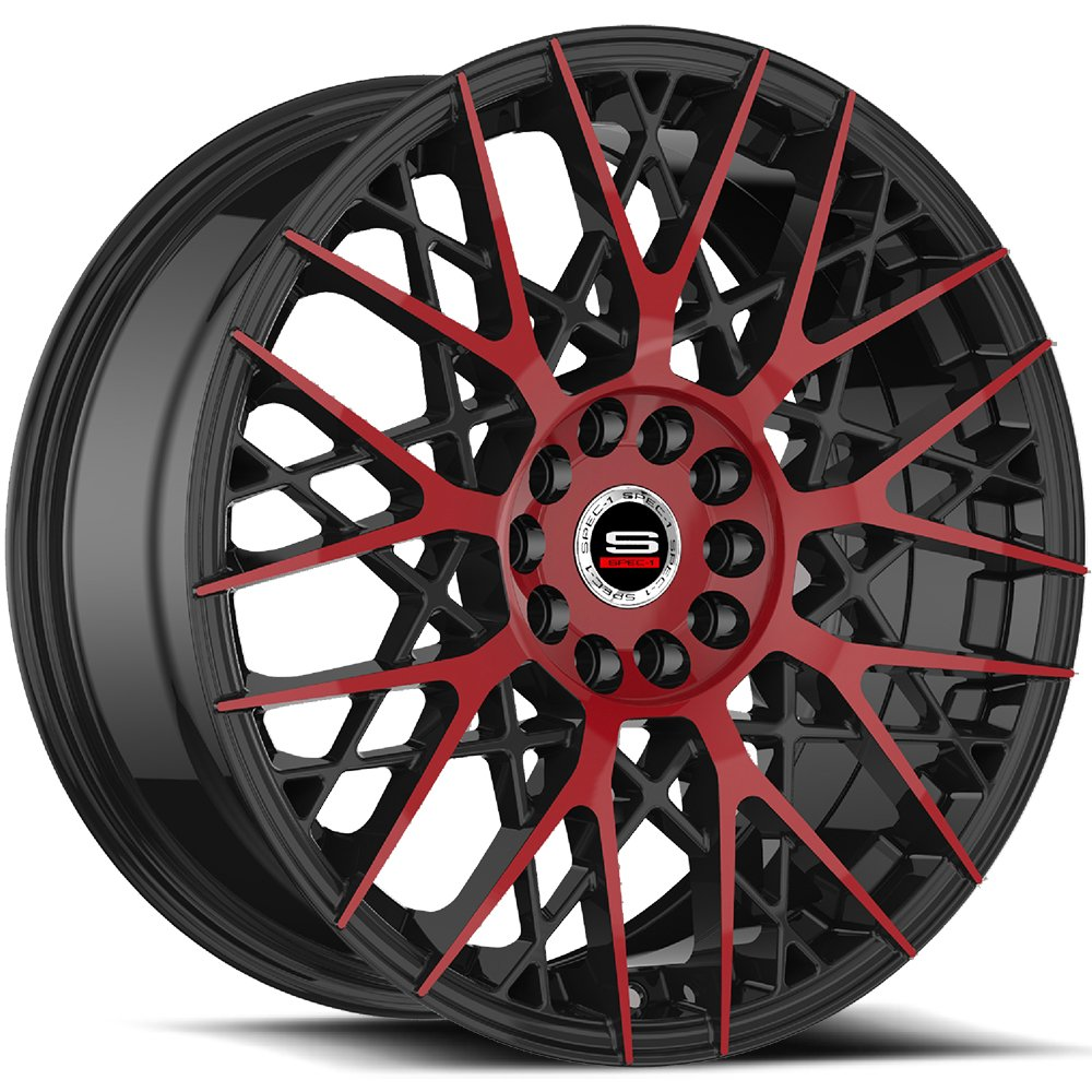 Spec-1 Racing SP-53 Red and Black Wheels