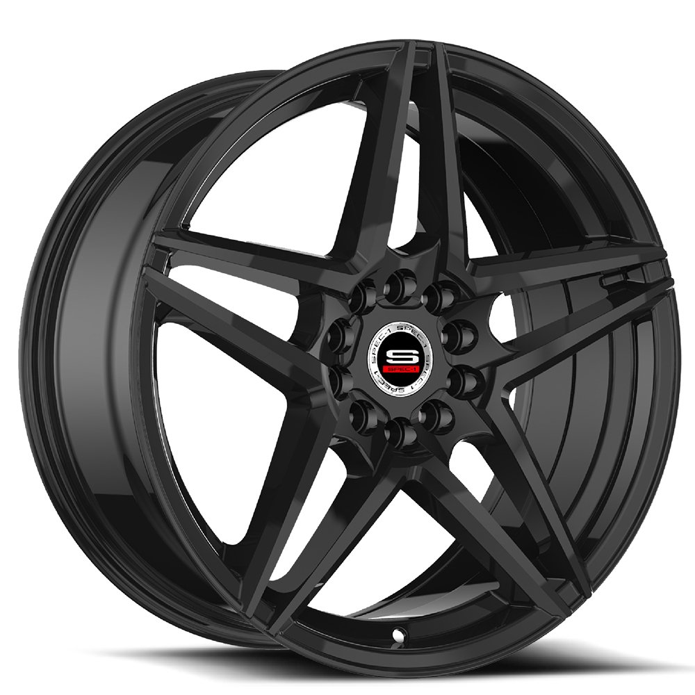 Spec-1 Racing SP-54 Gloss Black Wheels
