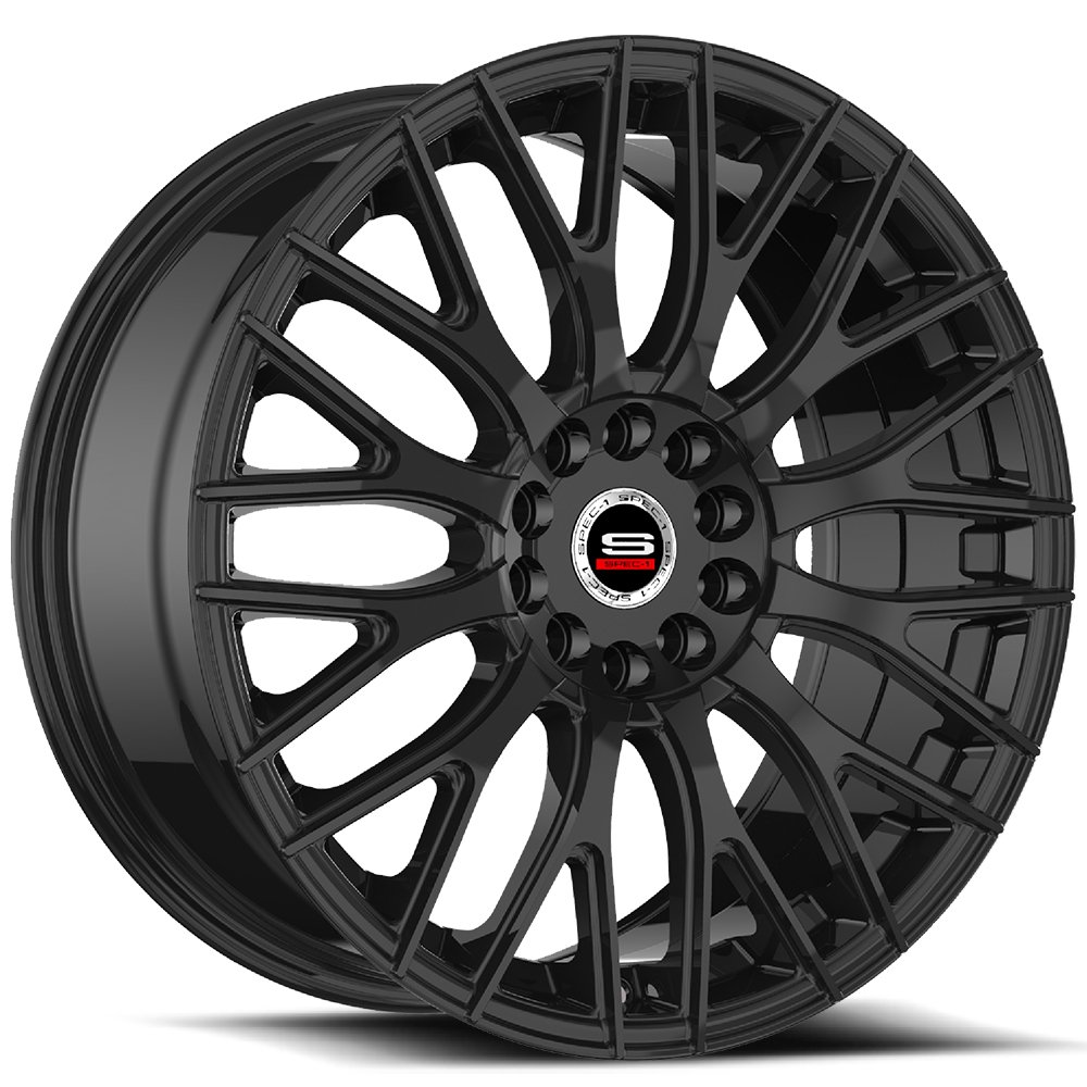 Spec-1 Racing SP-55 Gloss Black Wheels