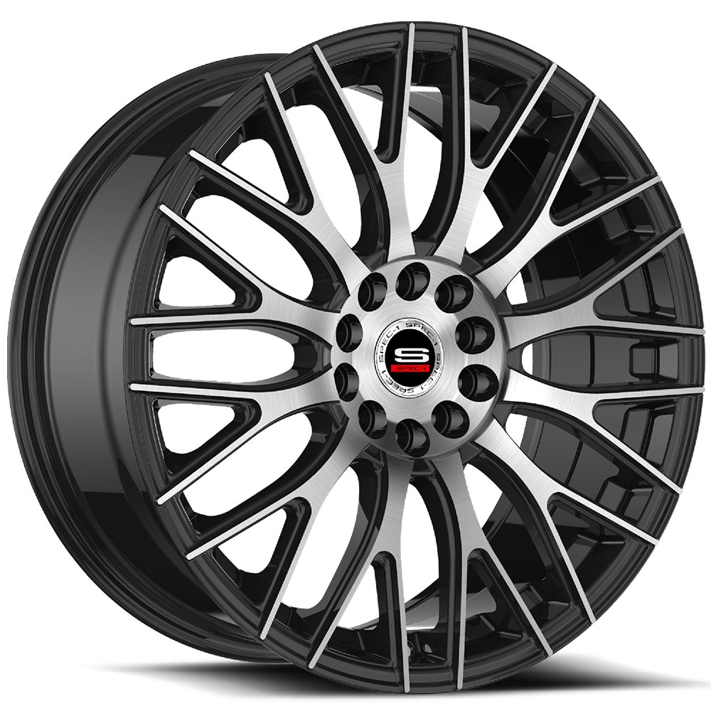 Spec-1 Racing SP-55 Machine Black Wheels