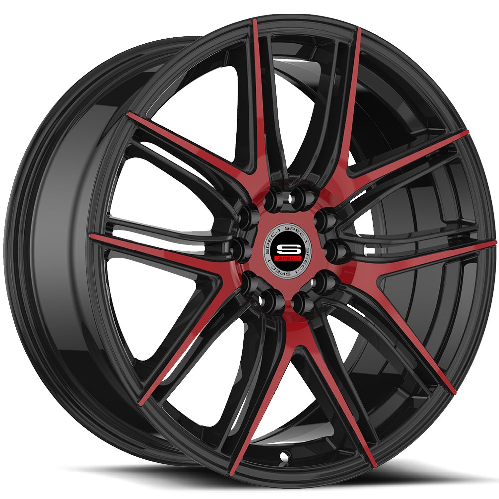 Spec-1 Racing SP-56 Black and Red Wheels