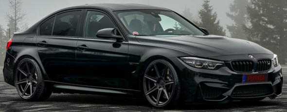 2018 BMW M3 on Ferrada FR7 Matte Black Wheels