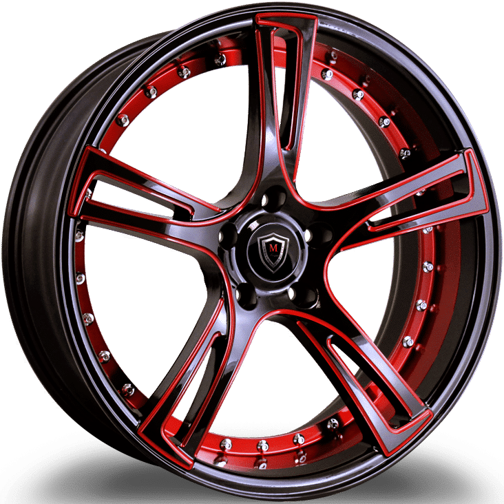 Marquee M3247 Black with Red Milling and Red Register