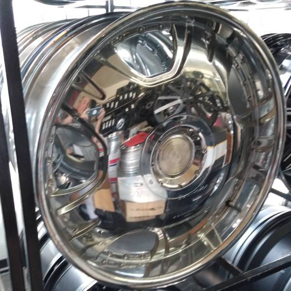 22x9 BSA 321 Chrome Wheels