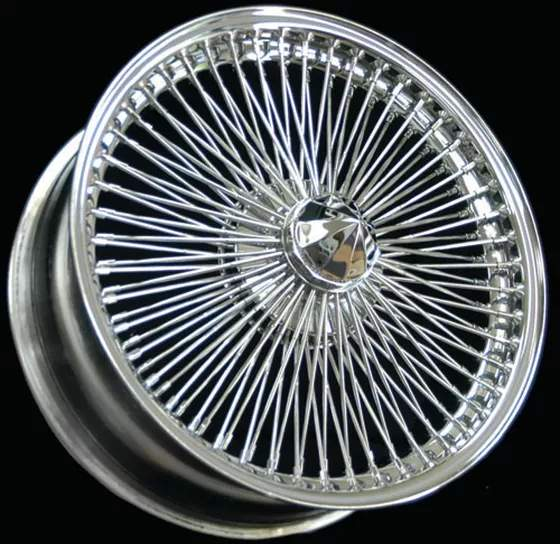 Galaxy 100-Spoke Chrome Wire Wheel