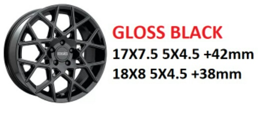 "18"" Kinetic Gloss Black Wheels on Sale $399 set + s/h"