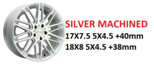 "18"" Kinetic Silver Machined Wheels on Sale $399 set + s/h"