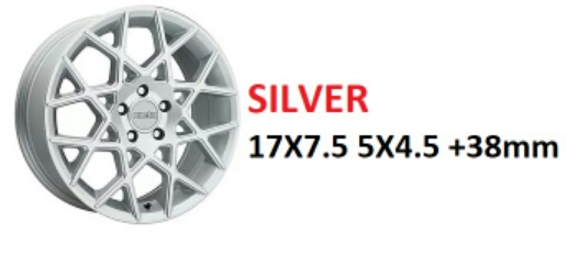 "18"" Kinetic Silver Wheels on Sale $399 set + s/h"
