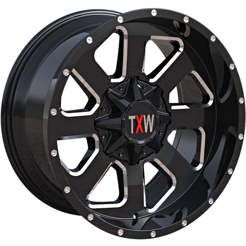 TXW Off Road WheelsT-0.08 Black Milled
