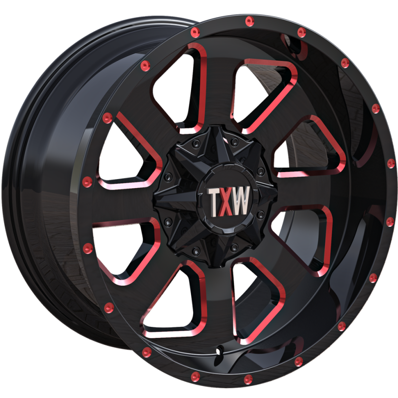 TXW T-0.08 Black with Red Milled