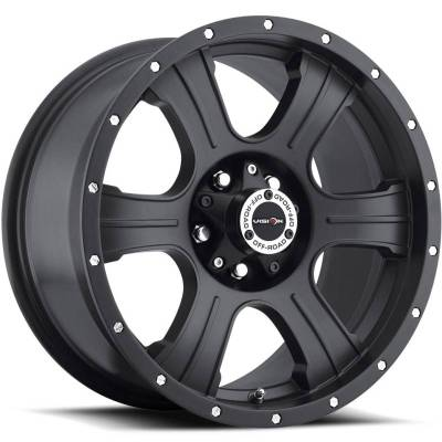 Vision 396 Assassin Matte Black with Chrome rivits