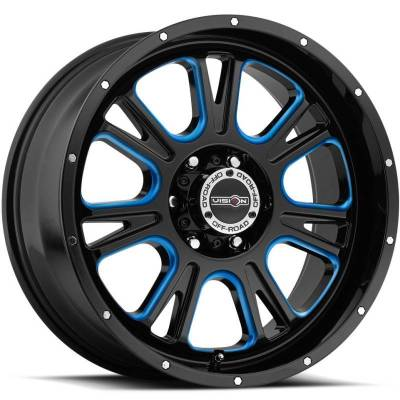 Vision 399 Fury Gloss Black with Blue Tint