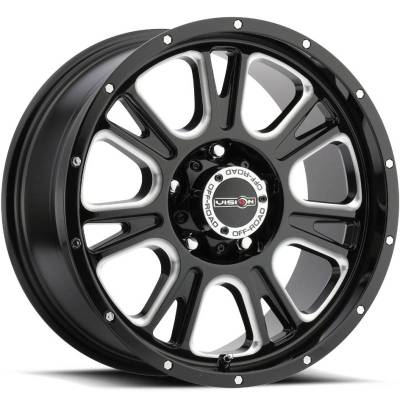 Vision 399 Fury Gloss Black Milled