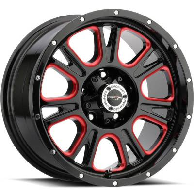 Vision 399 Fury Gloss Black with Red Tint