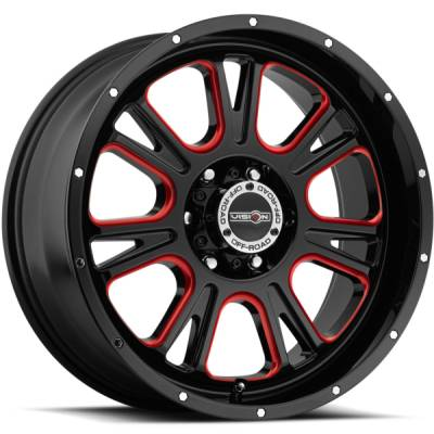 Vision 399 Fury Black with Red Accents