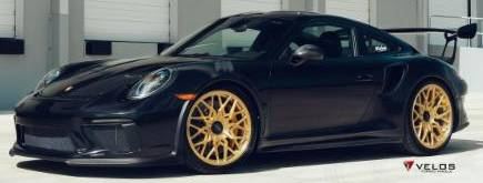 Porsche GT3 RS on Velos VLS07 1-Piece Centerlock Velos Wheels