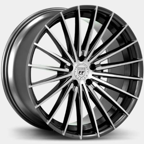 Lexani FF-One Series Ressa Gloss Black Machine Face Wheels