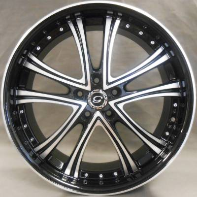 White Diamond W.179 Black Machined Wheels
