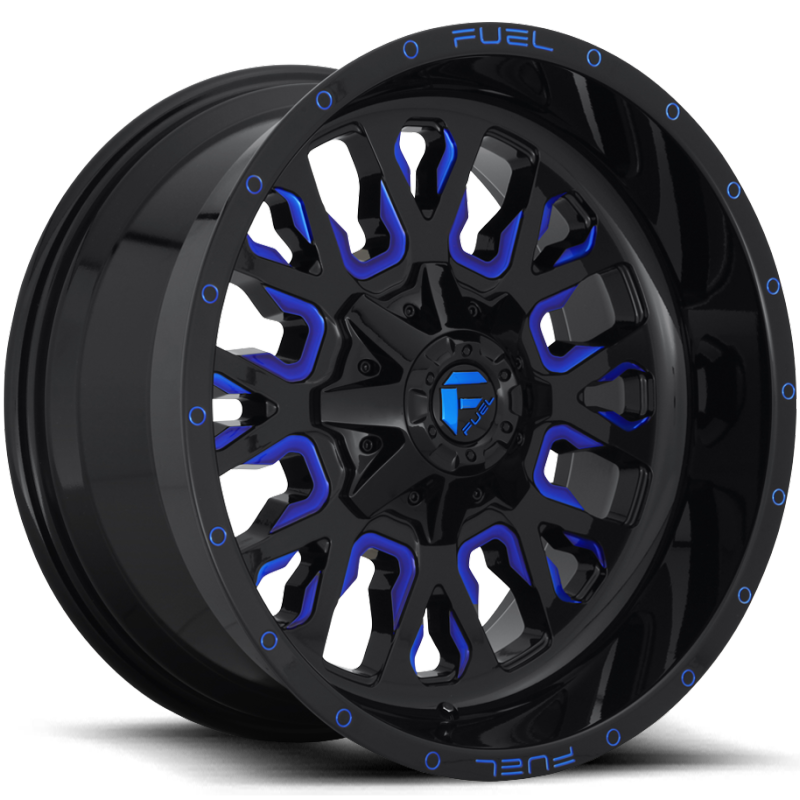 Fuel Stroke Gloss Black and Candy Blue